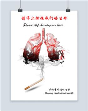 请停止燃烧我们的生命海报