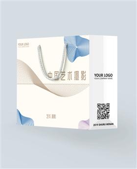 极简中国风艺术摄影手提袋