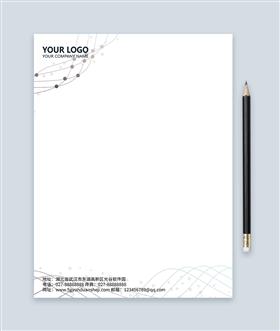 简约商务艺术信纸