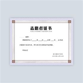 艺术纹理志愿者证书