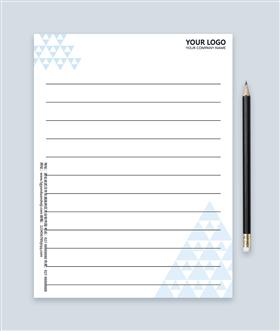 蓝色三角形简约商务信纸