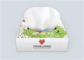 可爱手绘女孩草莓纸巾盒