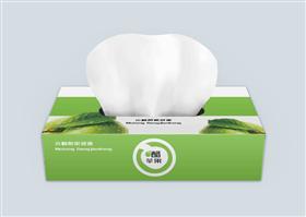 绿色简约果醋饮料纸巾盒