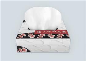 典雅花纹纸巾盒