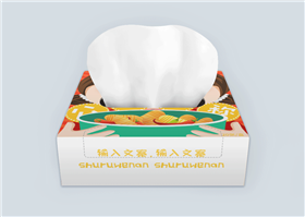 可爱卡通人物餐厅纸巾盒